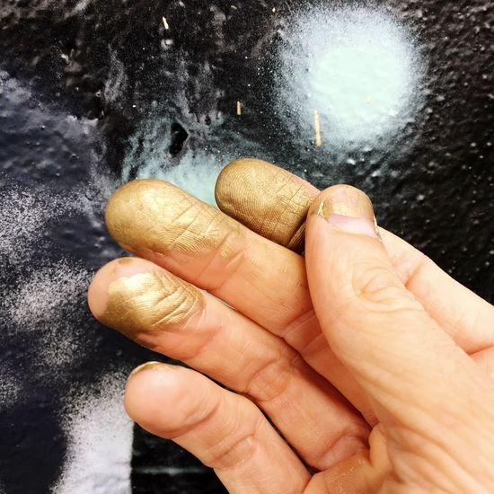 Human Hand Human Body Part Close-up One Person Graffiti Wall Graffiti Urban Art Goldfinger