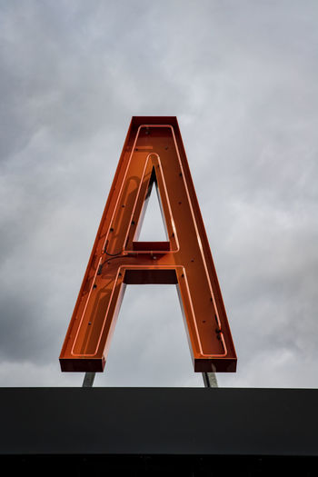 an A letter Auckland Travel Architecture Built Structure Cloud - Sky Communication Day Design Industry Low Angle View Minimal Nature New Zealand No People Overcast Shape Sign Single Object Sky Triangle Shape The Architect - 2018 EyeEm Awards