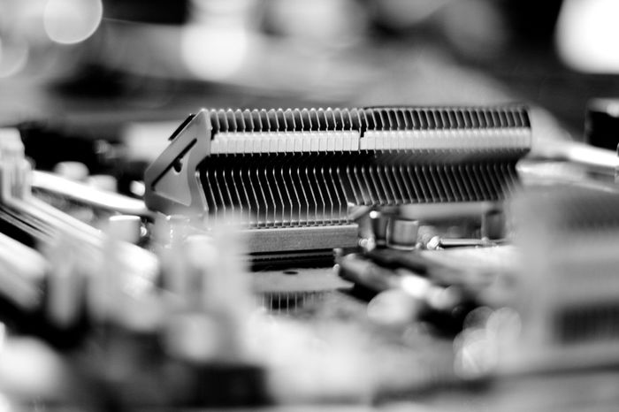 Close-up Detail Heatsink Machine Part Mainboard No People Nocolor Selective Focus Still Life
