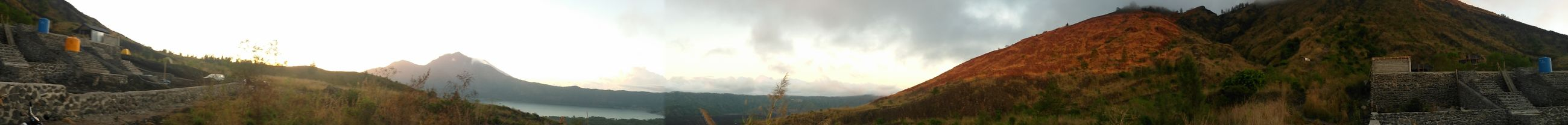 Hiking Bali, Indonesia Colored Pencil Day Mountain Nature Outdoors Panorama Panoramashot Sunrise