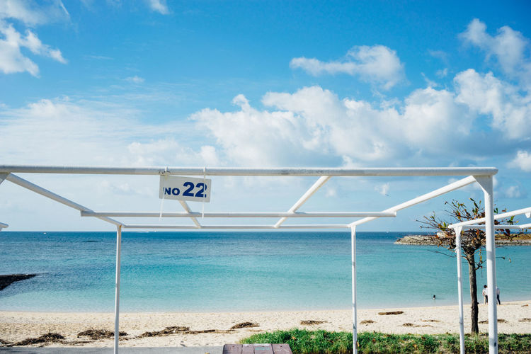 OKINAWA, JAPAN Okinawa Beach Beachphotography Beauty In Nature Blue Sky And Clouds Day Dayout Frame Horizon Over Water Nature No.22 Okinawa Love Okinawan Beach Okinawan Foods Outdoors Sea Beach Life Sky Water