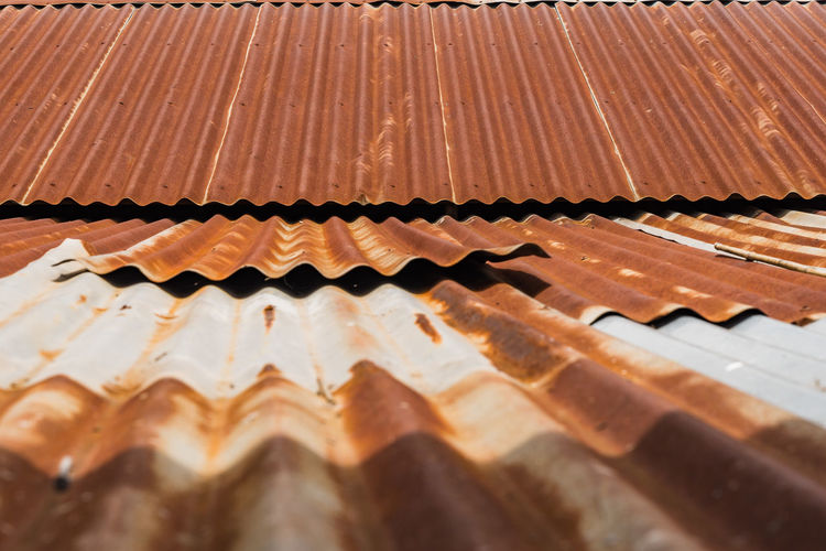 Close-up of rusty rooftop