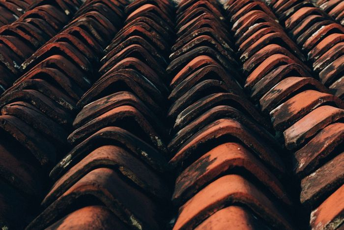 Eyeem Philippines Roof Roof Tile No People Backgrounds Beautifully Organized Tiled Roof  Outdoors Close-up Day