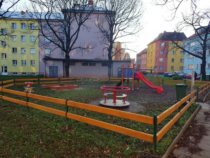 Built Structure Building Exterior Architecture City Outdoors No People Tree Sky Day Children Czech Republic🇨🇿 City Ostrava Playground Playground Structure