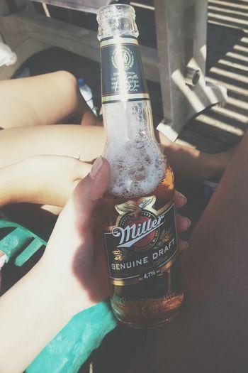 Being A Beach Bum Beer Miller Relaxing