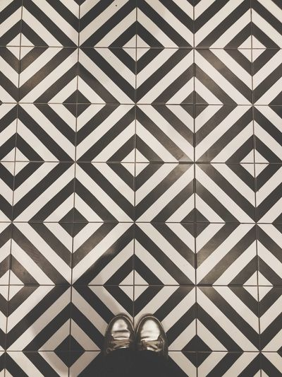 I have this thing with floors I Have This Thing With Floors Looking Down Pattern Flooring Low Section Indoors  Tile Design Real People Tiled Floor Shoe Human Body Part