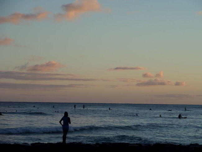 woman at beach at sunset Woman Tranquility Nature No Filter Purist No Edit No Filter Water Wave Sunset Beach Full Length Sand Silhouette Summer Dusk Calm