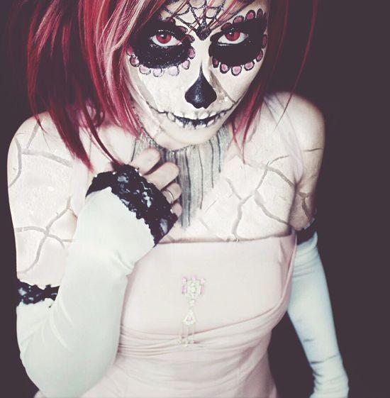 """SugarSkull Princess"" Halloweenmakeup Sugarskull Photography Model Spooky Edited"