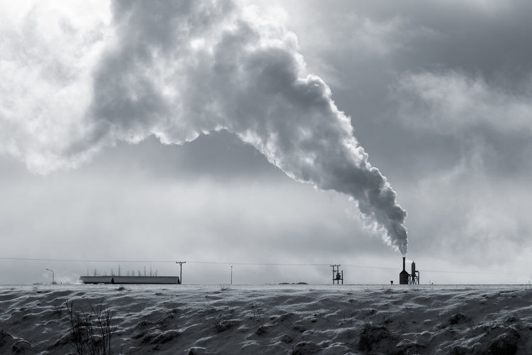 Architecture Built Structure Chimney Day Emitting Factory Fumes Geothermal Ener Iceland Iceland Memories Iceland Trip Iceland_collection Industry Nature No People Outdoors Pollution Sky Smoke - Physical Structure Smoke Stack Water