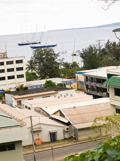 Downtown Port Vila Harbour Harbor Harbour View Iririki Island Melanesian Pacific Pacific Ocean Port Vila Harbour Vanuatu. Resort Travel Destinations View Of The City Vivid International