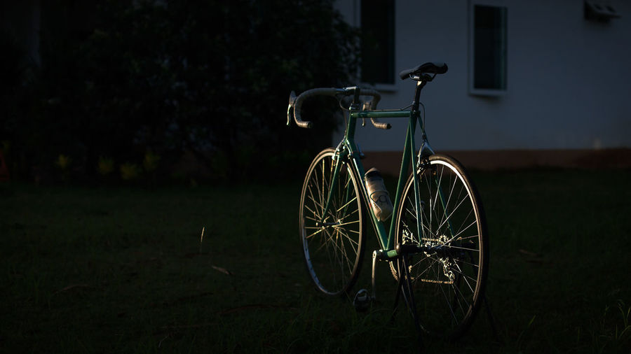Bicycle on landscape