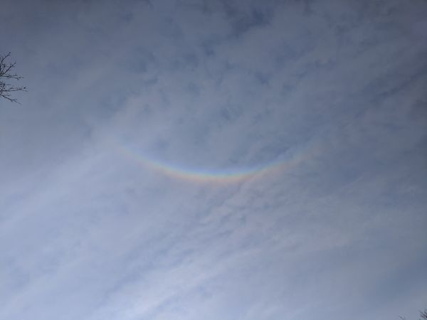 """""""upside down rainbow? who would of thunk"""" """"no filters"""" Vapor Trail Multi Colored Rainbow Sky Cloud - Sky"""