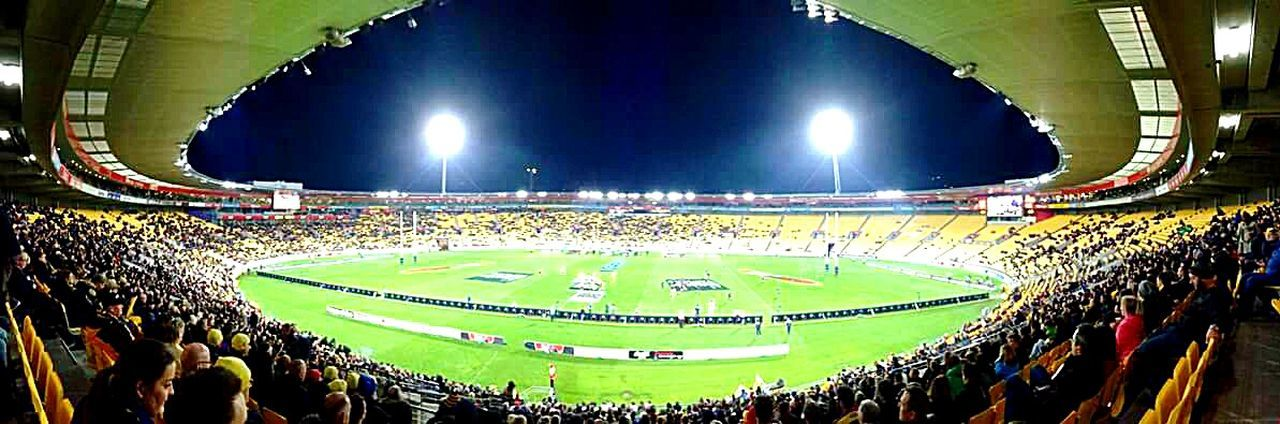 Panoramic Panoramic Photography Panoramic View Panoramic Views Stadium Rugby Stadium Newzealand All Blacks Rugby Rugby TIME Match New Zealand Rugbyplayer Spotlight Life Through A Lens Photographer Taking Pictures From My Point Of View Taking Photos Sports Photography Sport Ruggers Kiwi Adventure Buddies Everything In Its Place The City Light