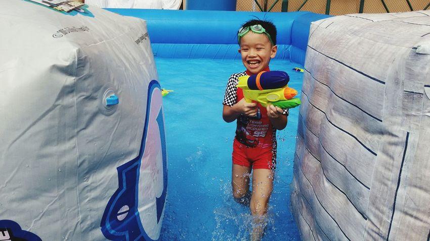 Faces Of Summer Water War Child Photography Child Portrait Hong Kong Fun Enjoying Life Water Gun