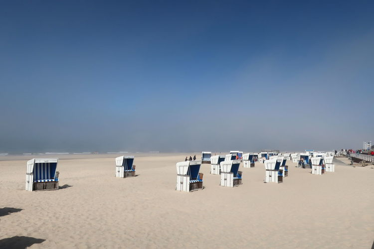 Nordsee Nordseeküste Sylt Strand Sylt, Germany Beach Beach Chair Beauty In Nature Clear Sky Day Holiday Hooded Beach Chair Horizon Horizon Over Water Land Nature Outdoors Sand Scenics - Nature Sea Sky Sylt Sylt_collection Tranquil Scene Water Westerland