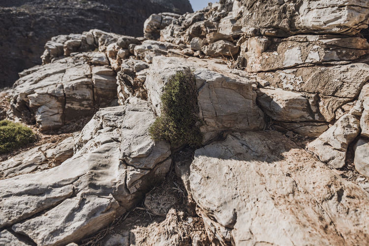 Arid Climate Beauty In Nature Day Eroded Geology High Angle View Land Nature No People Non-urban Scene Outdoors Physical Geography Remote Rock Rock - Object Rock Formation Rough Solid Sunlight Textured  Tranquil Scene Tranquility