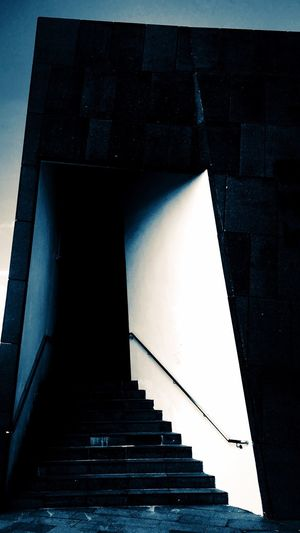 Architecture The Way Forward Built Structure Staircase Steps Steps And Staircases No People Day Outdoors Light And Shadow Modern Exterior Design Darkness And Light PolygonArt Unknown Lines And Shapes Architecture_collection The Week On EyeEm Secret