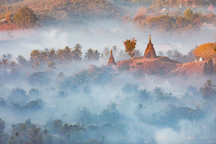 Architecture Beauty In Nature Belief Building Built Structure Day Fog Nature No People Outdoors Place Of Worship Plant Religion Scenics - Nature Sky Spirituality Tranquility Travel Destinations Tree