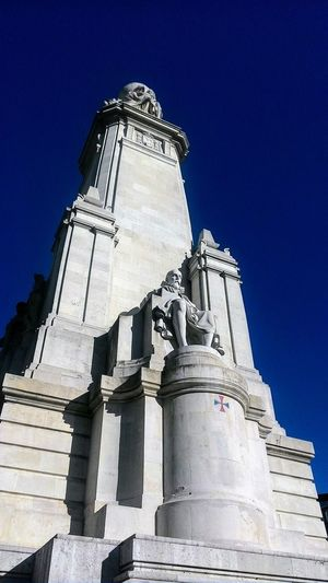 monumento Blue And White Blue Sky Day Literature Statues And Monuments Writer History Travel Destinations Sculpture