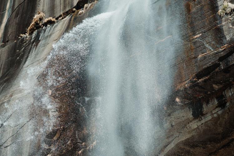 Water splashing on rock