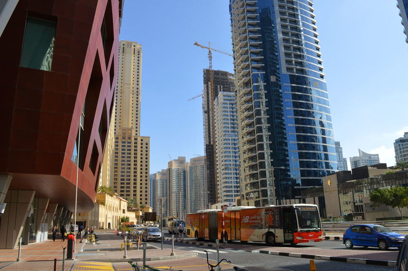 City street with buildings in background