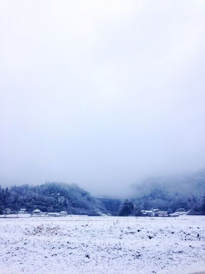 Snow Spring Fog Japan Countryside Japan Photography Japanesevillege Dam Japanese Mountain