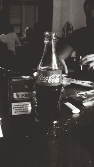 Spending the night with my friends and a coke ?Relaxing With Friends Coca Cola