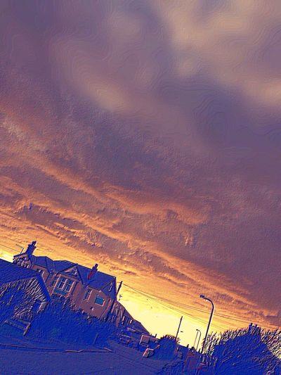 Clouds Glan Neigr Hotel Red Sky