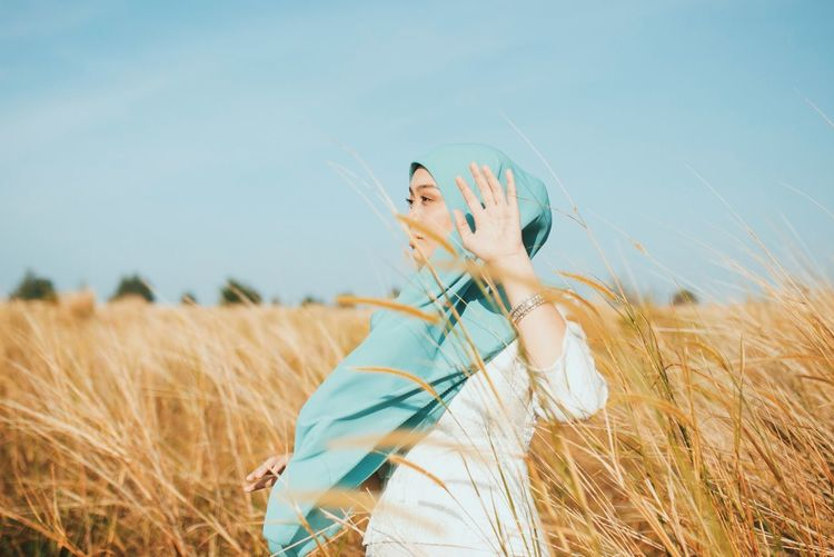 Hijabster Malaywedding Malaysia Truly Asia Scarf Hijabstyle  Tudung Malaysia Truly Asia Hijabster EyeEm Selects Field Land Plant Sky Crop  Nature Landscape Beauty My Best Photo