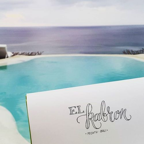 Great place, great food and drinks, great companiment, great time. Bali Thebalibible Cliff Pecatu Lettering Handlettering Art ArtWork Outline Letter Letters Kaligrafina Belmenid