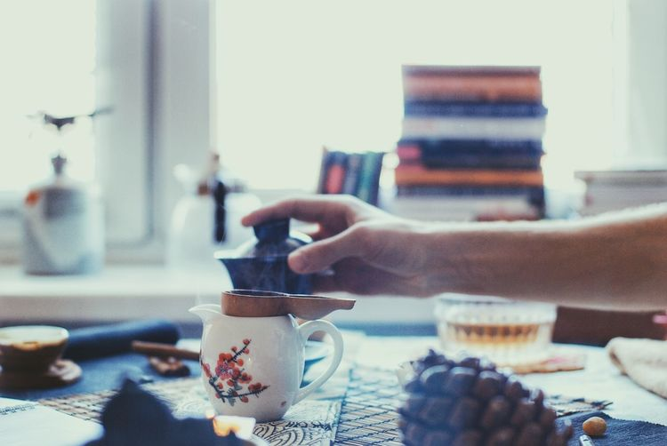 Refreshment Drink Lifestyles Adults Only People Leisure Activity Real People Human Hand Adult One Person Human Body Part Day Indoors  Close-up Young Adult Espresso Maker Tea Tea Time EyeEmNewHere