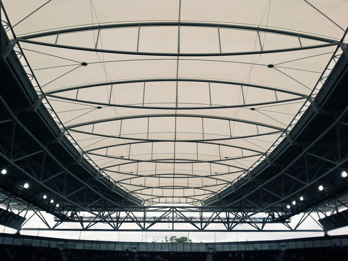 Low Angle View Of Stadium Roof
