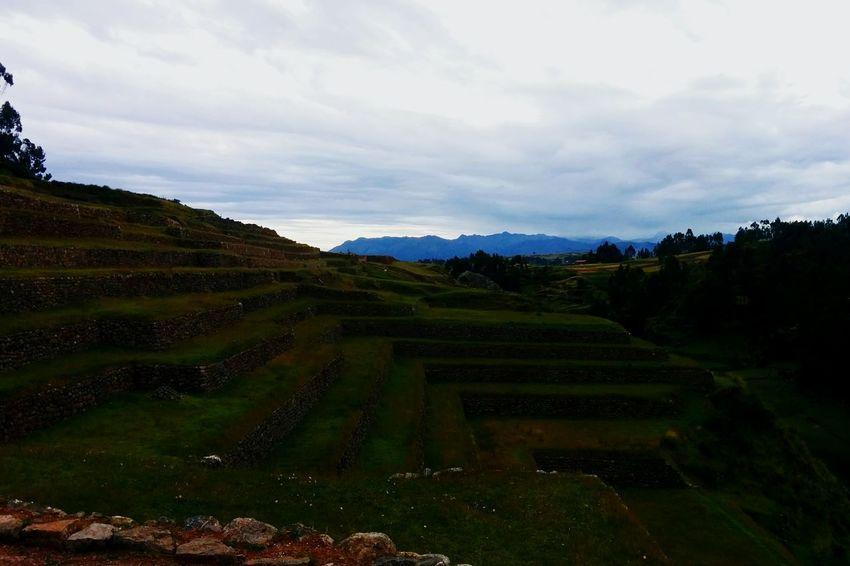 Landscape Terraced Field No People Outdoors Agriculture Travel Destinations Ruins Architecture Ruins Inca Peru Inca Ruins Fascinating Amazing Architecture Peru Traveling Scenics Mystic View Historical Site
