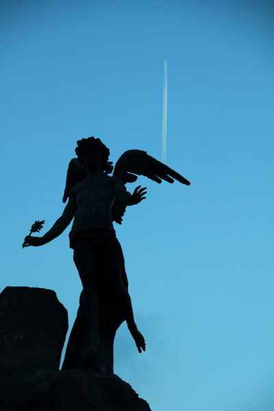 Blue Clear Sky Day Fun Low Angle View No People Outdoors Sculpture Silouhette Sky Statue Turin Italy