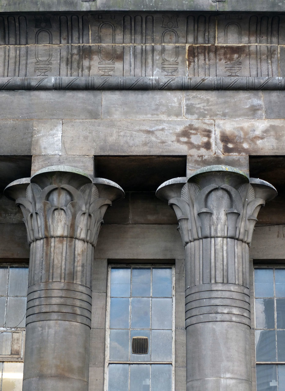 architecture, built structure, building exterior, no people, day, outdoors, low angle view, architectural column, close-up
