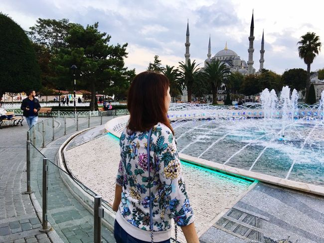 Relaxation Casual Clothing Outdoors Vacations Istanbul Mosque