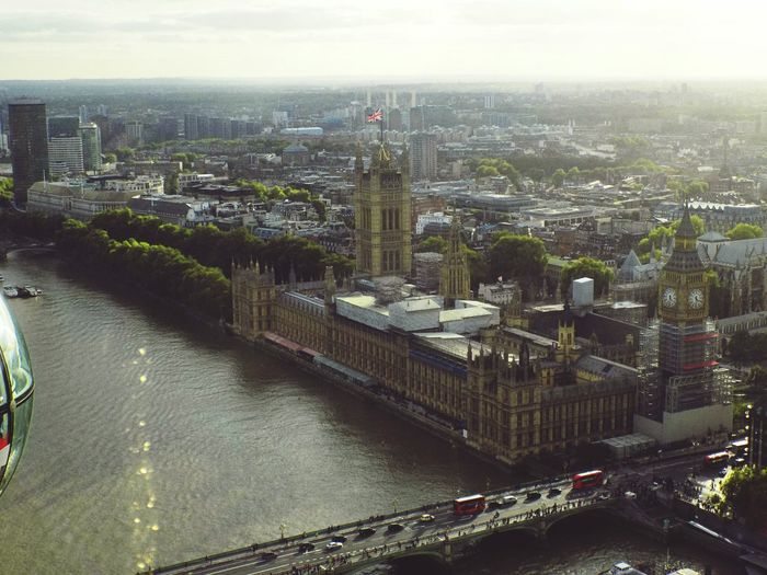 Architecture Built Structure Building Exterior Aerial View High Angle View Cityscape No People Big Ben City Outdoors Bridge - Man Made Structure Travel Destinations Sky Urban Skyline Water Ferris Wheel Skyscraper Politics And Government LONDON❤ London Londra United Kingdom Britain City Cityscape