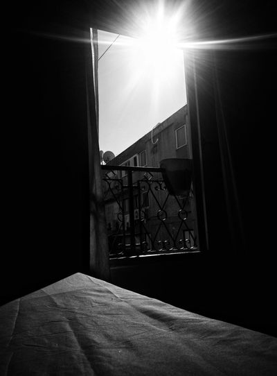Indoors  Home Interior Built Structure No People Bedroom Sunbeam Illuminated Sky Architecture Black & White Black And White Blackandwhite Gettyimages Getty Images EyeEm EyeEm Team Mobile Photography אוריהודהשלי Sun Outdoors Sunlight Mobilephotography Uniqueness Sunbe The City Light Welcome To Black The Secret Spaces