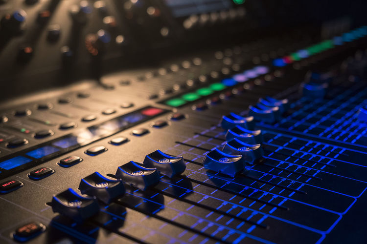 Close-Up Of Sound Mixer