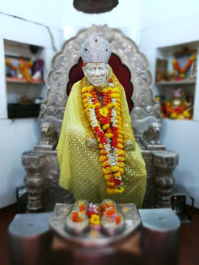The Holy Saint Saibaba  Indoors  indoors No People Statue Day Close-up