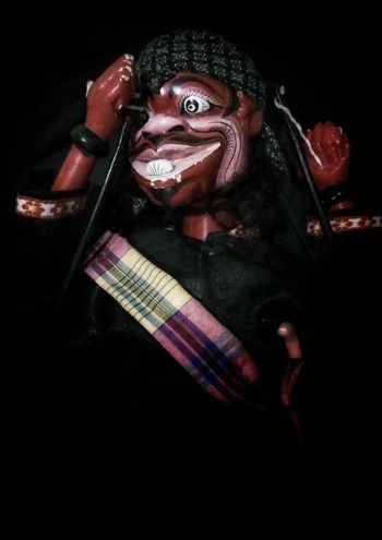 Wayang Golek Dolls Doll Photography Wayang Wayang Golek Cepot Spooky One Man Only Dark Adult Ominous Evil Indoors  Close-up Men Day Only Men