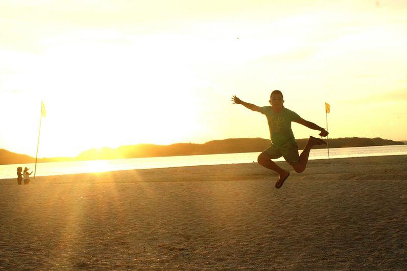 Good mprning world! Jumpshot the day. SombreroIsland Masbate,Philippines. Beachlife