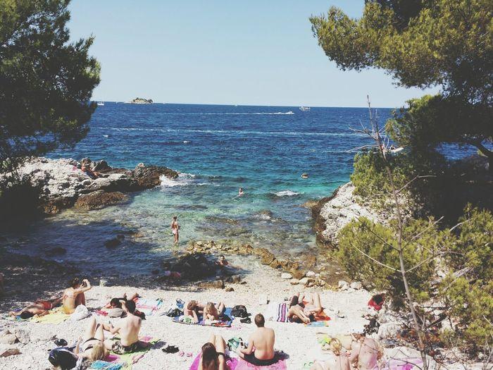 Small beach. Holiday Summer Beach Sea