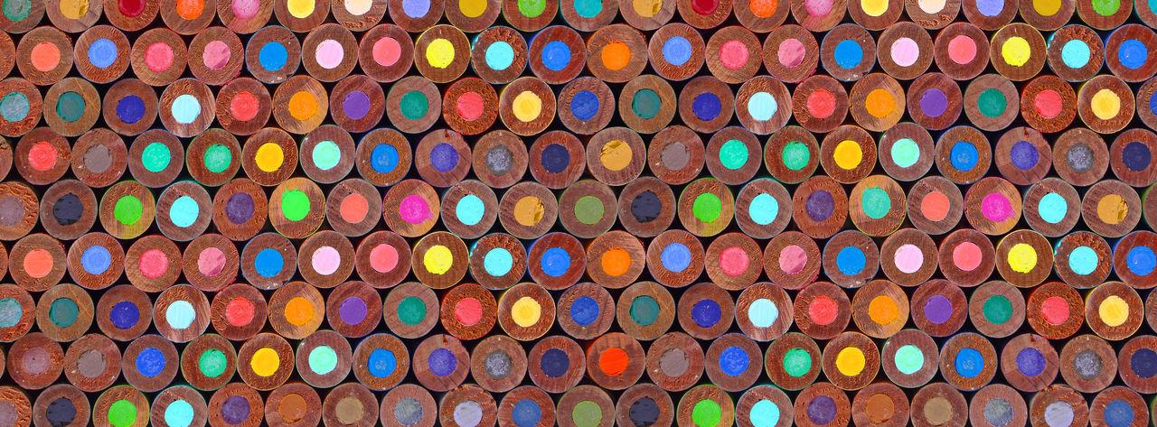 Full frame shot of multi colored pencil