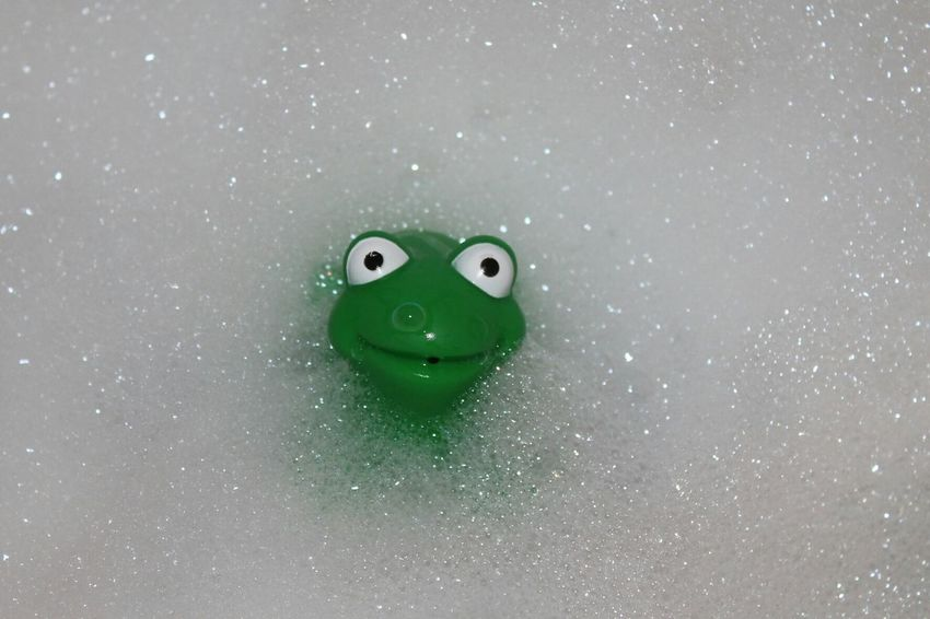 Best buddy in the bath Green Color Water Water Bubles