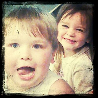 my sweet nephew and niece Indian kaleb