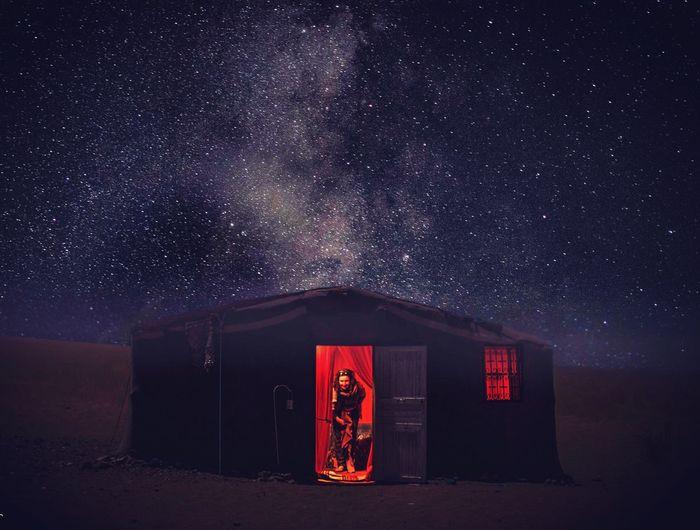 Lost In The Landscape Milky Way Night Stargazing Sky Morocco Wanderlust Sleepingunderthestars Desert Lost