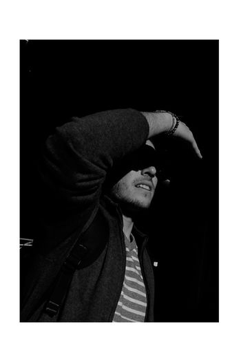 B&Woooow EyeEmNewHere Editor Blackandwhite Black & White Portrait Streetlife Street Streetphotography Urban Candid Hood - Clothing One Person Hooded Shirt Adult One Man Only People