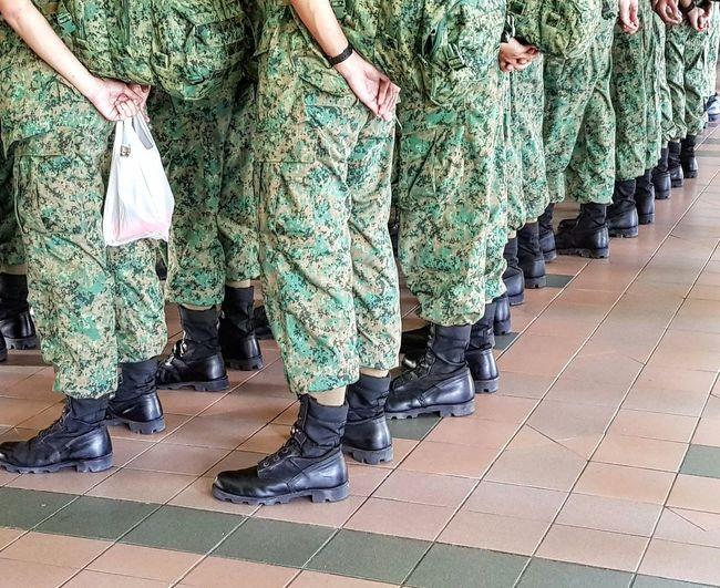 Camo Uniform NSmen Going Into Camp Sg_streetphotography Streetphotography Pasir Ris Bus Interchange Singapore