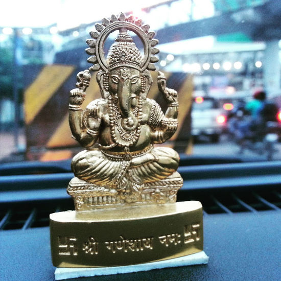 Cultures Religion First Eyeem Photo God Ganpati Ganesha Car Decor Pray Belief And Faith